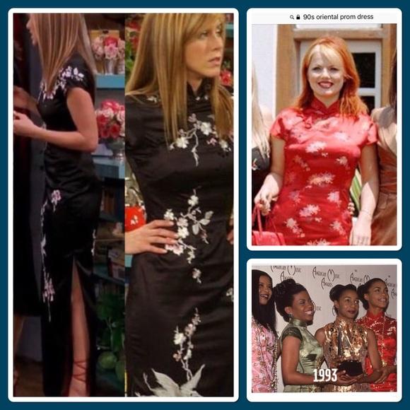 Vintage wild Rose Dresses | Nwt Vintage 90s Oriental Inspired Dress ...